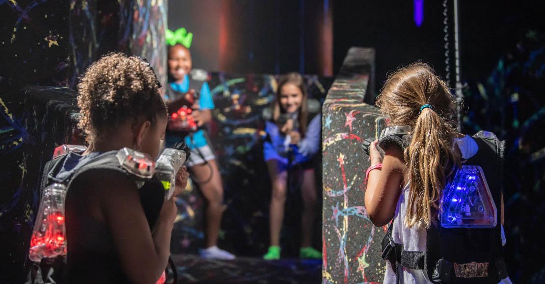 kids playing lazer tag