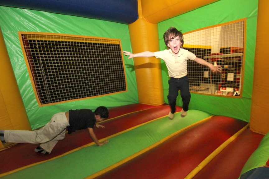 kids in the bouncy house